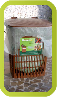 Brown Bin Caddy with Liner