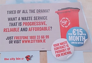 a flyer issued by City Bin